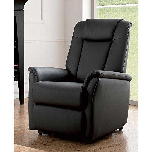Pharao24 TV Sessel in Schwarz elektrisch verstellbar