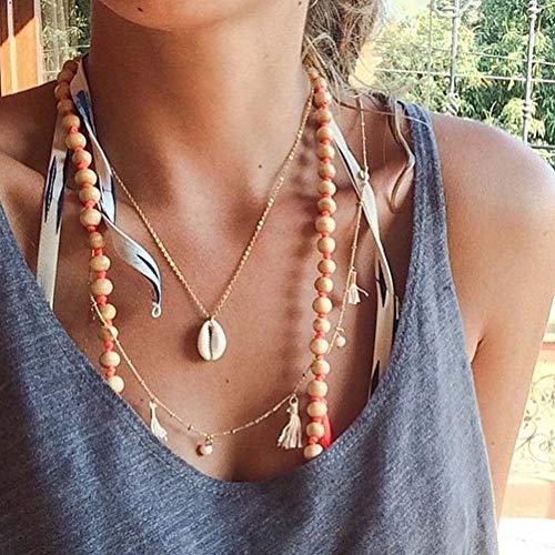 SELUXU Beach Conch Shell Halskette Armband SAMT Kette Choker Weben Böhmische Halskette Schmuck