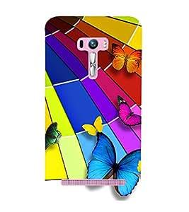 Vizagbeats Colorful Butterflies Back Case Cover for Asus Zenfone Selfie::Asus Zenfone Selfie ZD551KL