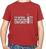 Cute I'd plutôt être jouer cricket T-shirt pour enfant. Fabriqué à partir de 100% coton, ce t-shirt est disponible à partir de 3ans jusqu'à 14ans. Disponible en huit couleurs-noir, vert irlandais, rose clair, rouge, bleu roi, bleu clair, blanc et...