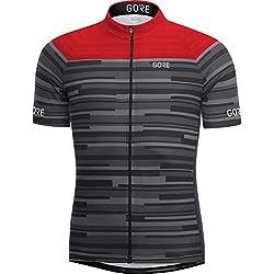 Gore Bike Wear 100265 Maillot, Hombre, Negro/Rojo, L