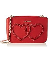 Love Moschino - Borsa Calf Pu Rosso, Shoppers y bolsos de hombro Mujer, Rot (Red), 17x28x10 cm (W x H D)