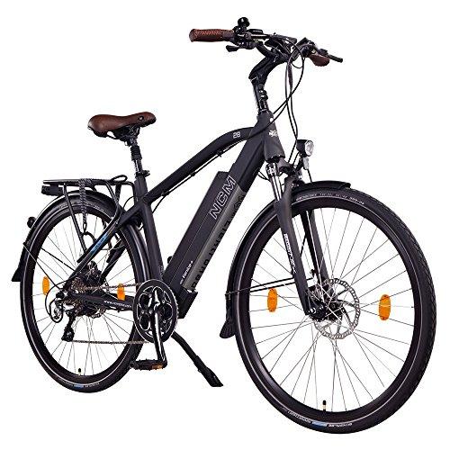 NCM Venice+ 48V 28 Zoll Trekking / Urban E-Bike, 250W Das-Kit Heckmotor, 14Ah 672Wh designer Rahmen Akku mit Panasonic Li-Ion Zellen, hydraulische Tektro Scheibenbremsen, 8 Gang Shimano Altus / Acera Gangschaltung, matt schwarz