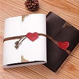 xiduobao Vintage recortes en forma de corazón colgante álbum de fotos, diseño de boda álbum de fotos hecho a mano DIY álbum de fotos Regalos especiales. (S), Blanco, S