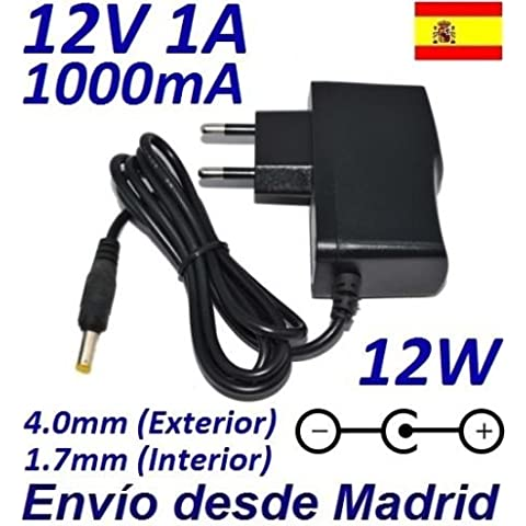 Cargador Corriente 12V 1A 1000mA 4.0mm 1.7mm 12W
