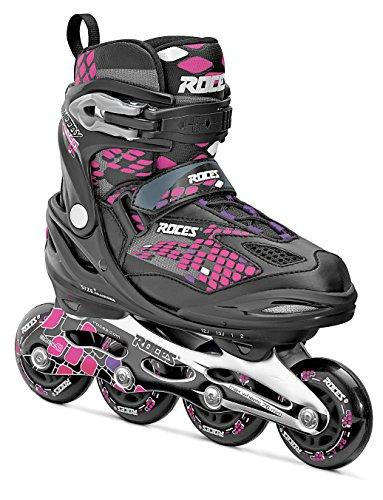 Roces Moody 4.0 Boy - Patines en línea para niña, color negro / rosa, talla 30-35