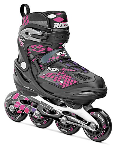 Roces Mädchen Inlineskates Moody 4.0, Black-Pink Lightning, 36-40, 400778-001