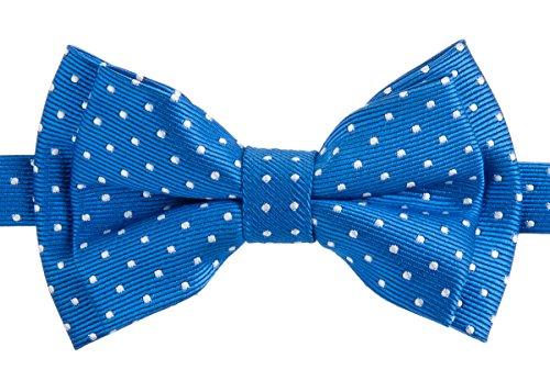 Pajarita Retreez pequeña moderna, con diseño a lunares, preanudada, para niños azul Blue with White Dots 24 Meses - 4 Años