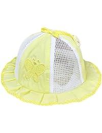 Kanggest Sombrero de Cubo del Malla de la Mariposa del Bebé Sombrero del Algodón del Bebé