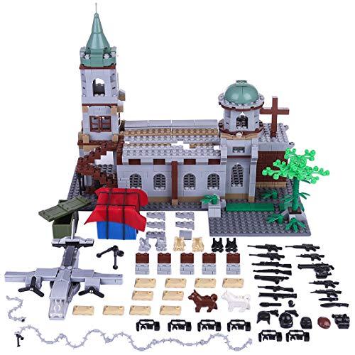 12che Militär Minifigur Set WW2 Minifiguren Militärgebäude Kit Waffe Zubehör für Lego - Set Lego Militär