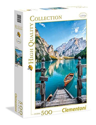 Clementoni - 35039 - high quality collection puzzle - braies lake - 500 pezzi