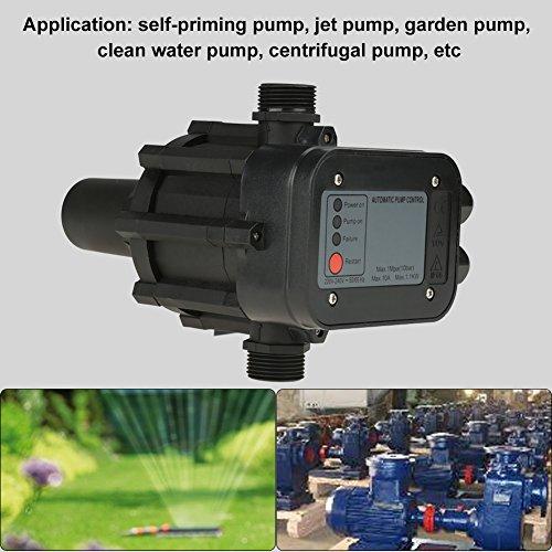 Wandisy 220V selbstansaugende Wasserpumpe, Strahlpumpe, Gartenpumpe, Kreiselpumpe mit Druckschalter, automatischer Druckregler