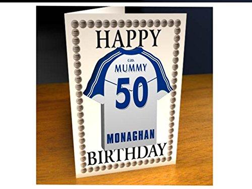 gaa Irlanda Gaelic Football & Dem Jersey biglietti d' auguri-Qualsiasi nome, qualsiasi, ogni Team, kostenlose personalizzazione., Uomo Donna Bambini, Monaghan GAA Gaelic Football Team