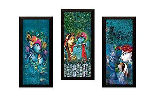 Paper Plane Design 'Radha Krishna' Painting (Synthetic, 15 cm x 3 cm x 38 cm,)