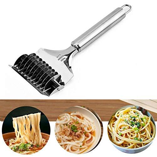 TAKEMORE7Edelstahl Nudeln Rotary Cutter, der Nudeln Gitter Pasta Spaghetti Maker, Drücken Teigschneider Pasta Machen Werkzeug für Home Küche -