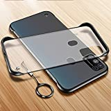 A.S. PLATINUM Ultra Thin Frameless Matte Transparent with Metal Ring Buckle Back Cover Case for Samsung Galaxy M31…
