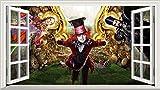 Chicbanners Alice in Wonderland 2Alice Through The Looking Glas voller Farbe Magic Fenster Bild Wandtattoo Wandbild Poster Größe 1000mm breit x 600mm tief (groß) V003