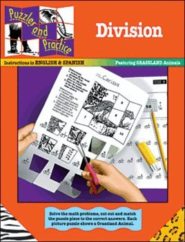 Division: Featuring Grassland Animals (Puzzles and Practice Series)