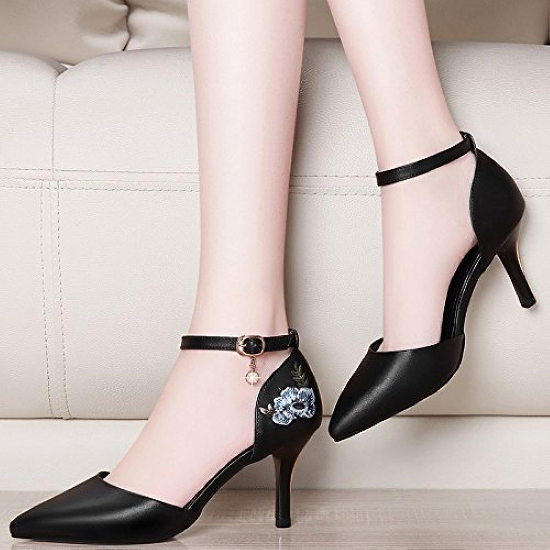 les femmes jqdyl chaussures seul à talons seul chaussures du printemps et de l'été a fait bien avec des chaussures à talons haut boucle hollow femelle...b07fgfk2vk parent 645f2b