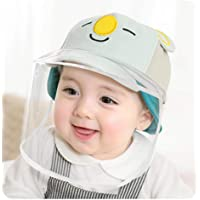 OUPAI Safety Face Hat Protective Hat Cover, for 0-2 Years Kids Toddler Baby Anti Spitting Anti-Dust Protective Hat Face…