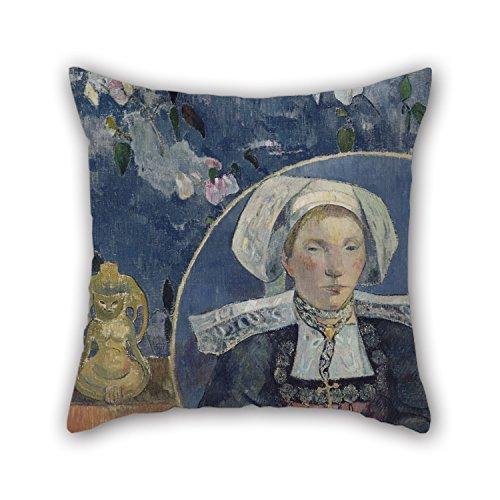 emälde Paul Gauguin-La Belle angã ¨ Le Kissenbezug 40,6x 40,6cm/40von 40cm Geschenk oder Decor für Club, Coffee House, Deck Stuhl, Kinder, Vater, Frau-2Seiten ()