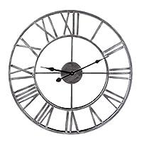 Foxom Vintage Clock, 50CM Retro Vintage Wall Clock Iron Roman Numerals Wall Clock, 50 cm