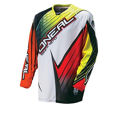 O'Neal Hardwear Jersey RACE Flow Orange Gelb Rot Motocross Enduro Cross Motorrad Trikot Shirt, 0027H-10, Größe XL (Bike Jersey Flow)