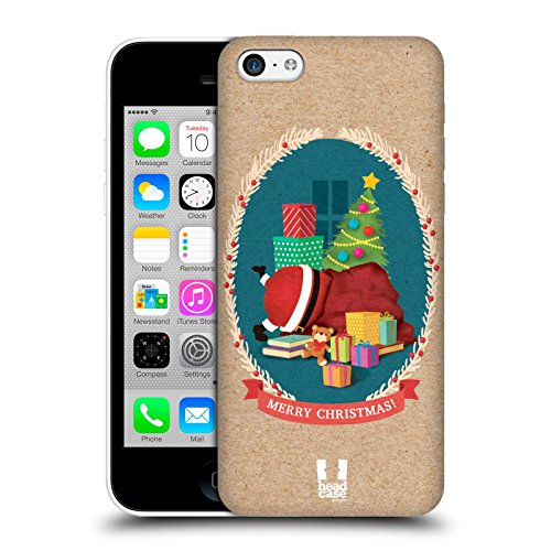Head Case Designs Sacco Classici Del Natale 2 Cover Retro Rigida per Apple iPhone 3G / 3GS Sacco