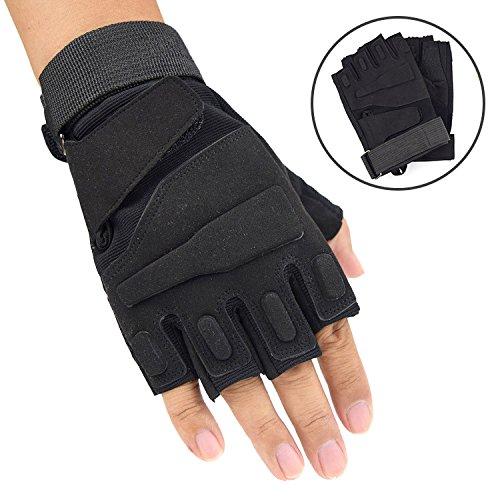 LybGloves Handschuhe der halben Fingerhandschuhe im Freien reitet halbstarkes kämpfendes Eignungbergsteigen des Fingerhandschuhes halb, Langer Fingersand, M.