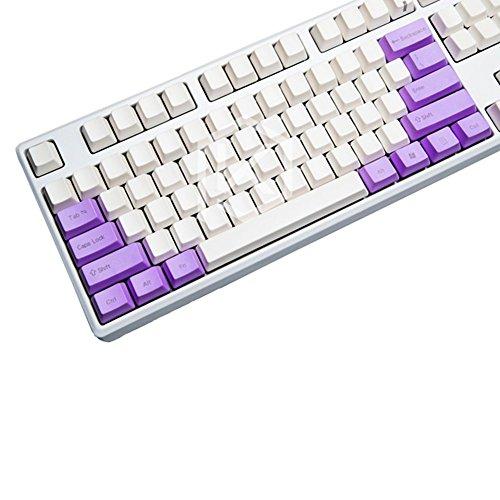 OLizee 14PBT Tastenkappen für OEM-Mechanische Tastatur, Purple Front Carve