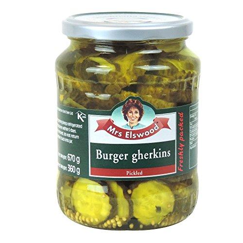 Mrs Elswood - Burgers Gherkins Pickled - 670g (Case of 6)