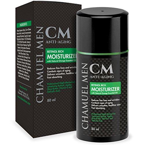 Chamuel Men's Skincare Anti-Aging Gesichtslotion - Faltenbekämpfung 2.5% Retinol Nighttime Facial...