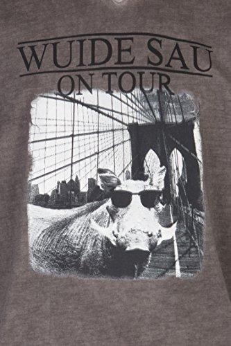 Schlusen Trachtenmode Herren T-Shirt Jiri (L, Anthrazit) - 2