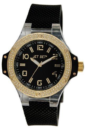 Jet Set J67908-267Cannes–Ladies Watch–Analogue Quartz–Black Dial–Black Rubber Strap