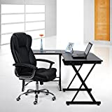 Songmics Black High Back Office Executive Computer Desk Chair OBG57B
