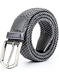 ZORO Stretchable braided woven unisex cotton belt, belt for men and women under 300, mens belt, flexible, fits on up to 40 inch waist size, non leather belt, gents belt, elastic belt for women, belt man