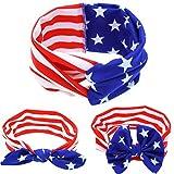 Zerowin 4th of July Headband American Independence Day Infant Baby Girls Headband Flag
