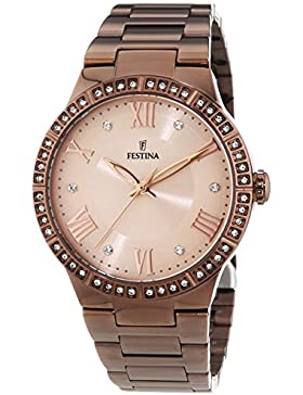 Festina Damen-Armbanduhr Analog Quarz Edelstahl beschichtet F16801/1