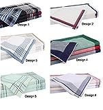 Betz 12 Stück Herren Stoff Taschentücher Set Größe 40x40 cm 100% Baumwolle verschiedene Farben (Design 1)