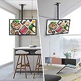 SIMBR TV Deckenhalterung Schwenkbar Neigbar VESA 400x400 an Flachdach oder Dachschrägen für LED LCD Plasma TVs von 22 bis 55 Zoll max. Tragegewicht 50kg Test