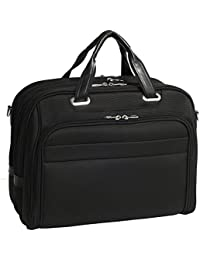 "Mcklein USA Springfield, Nylon Checkpoint-Friendly Laptop Briefcase - 15.6"" - Black - 76595"