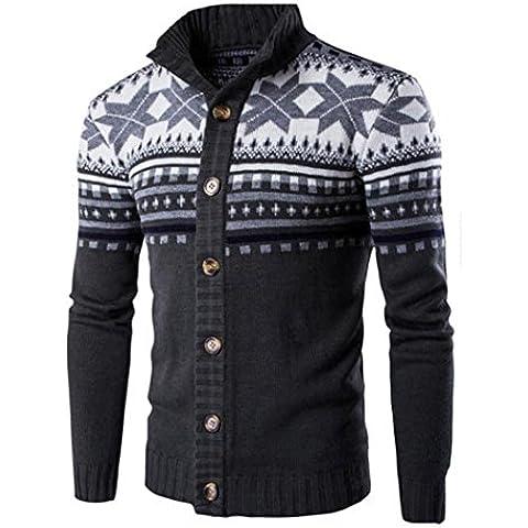Uomo Maglia maglione,Amlaiworld Colori misti Cappotto maglione stile nazionale