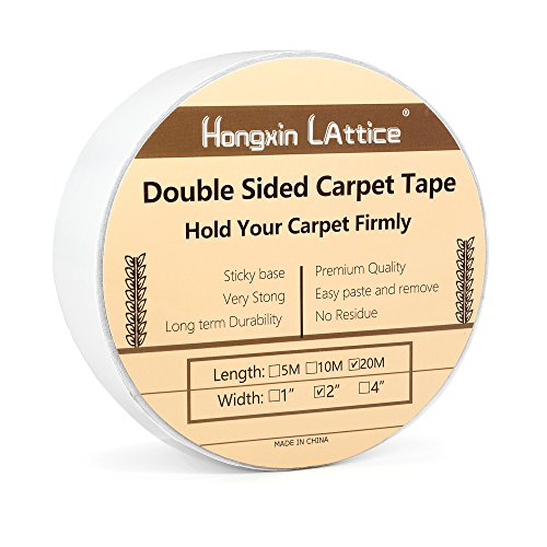 "Double Sided Adhesive Carpet Tape,2"" x 20 Meters(21.8Yards)- Clear Test"