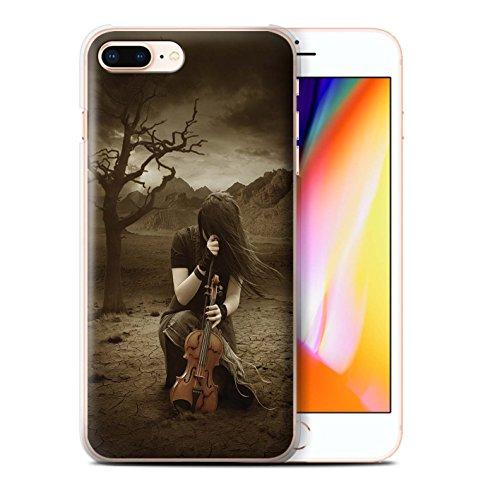 Officiel Elena Dudina Coque / Etui pour Apple iPhone 8 Plus / Harpe/Harpiste Design / Réconfort Musique Collection Abandonné