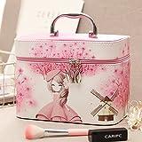 Trousse de toilette femme belle grande capacité sac à main sac cosmétique voyage vanity case cosmétique portable package package ,rose girl,grand