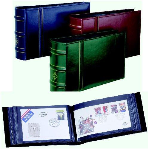 Leuchtturm FDC, Brief-Album Classic Design Bordeauxrot Briefmarken für Sammler -