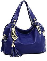 F9Q Women handbag - Sac à Main Fourre-tout Hobo Sac Messenger Rétro Femme Luxe Sacs Portés Main Livré avec suivi nombre et un cadeau gratuit