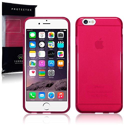 Terrapin TPU Schutzhülle Tasche Case Cover für iPhone 6S / iPhone 6 Hülle Transparent Lila Transparent Rot