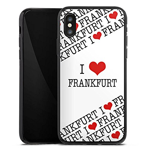 Apple iPhone X Silikon Hülle Case Schutzhülle Frankfurt Hessen Statements Silikon Case schwarz