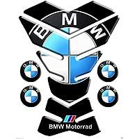 Motoking tanque pad compatible ETIQUETAS 3D-ETIQUETA' '15x20 BMW negro mod York''- tanque de la motocicleta y la protección de la pintura universal